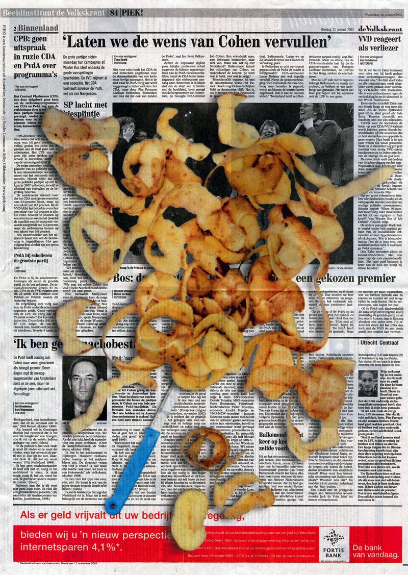 Potato Peel on yesterday's Volkskrant