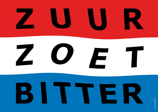 Sweet Sour Bitter, poster design to commemorate those who died in the Schiphol fire. (first prize)