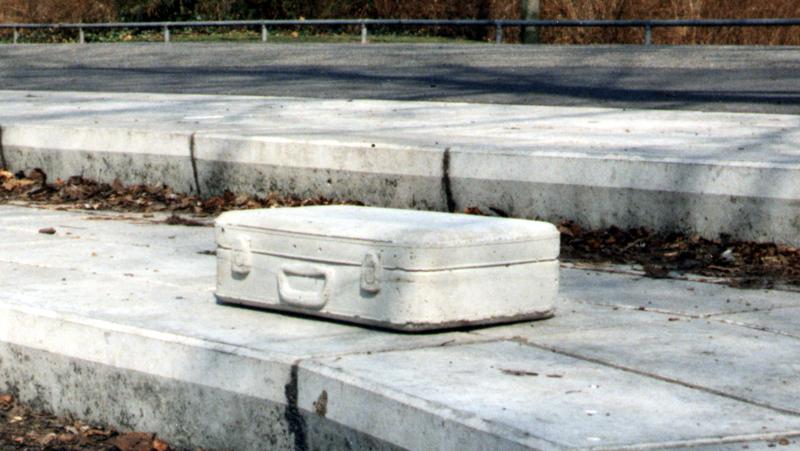 Forgotten Suitcase in Het Noorderplantsoen in Groningen (1996)