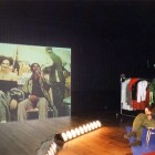 Audience and projection of the dressing room