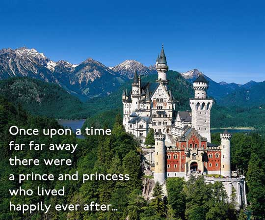 Once upon a time, far far away there were a prince and princess who lived happily ever after.